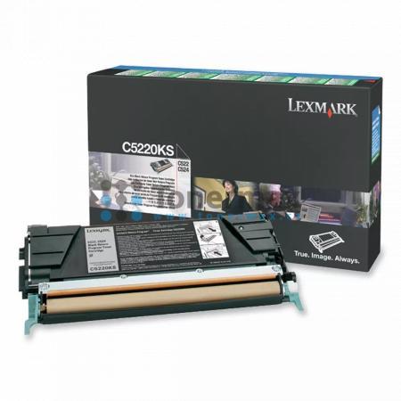 Lexmark C5220KS, return, originální toner pro tiskárny Lexmark C522n, C524, C524dn, C524dtn, C524n, C530dn, C532dn, C532n, C534dn, C534dtn, C534n