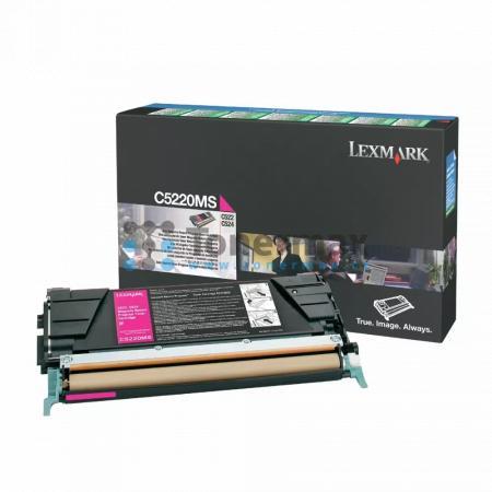 Lexmark C5220MS, return, originální toner pro tiskárny Lexmark C522n, C524, C524dn, C524dtn, C524n, C530dn, C532dn, C532n, C534dn, C534dtn, C534n