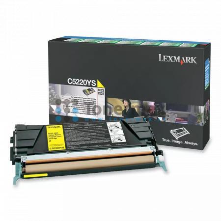 Lexmark C5220YS, return, originální toner pro tiskárny Lexmark C522n, C524, C524dn, C524dtn, C524n, C530dn, C532dn, C532n, C534dn, C534dtn, C534n