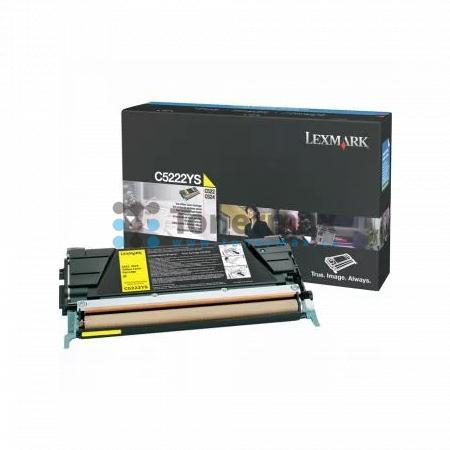 Lexmark C5222YS, originální toner pro tiskárny Lexmark C522n, C524, C524dn, C524dtn, C524n, C530dn, C532dn, C532n, C534dn, C534dtn, C534n