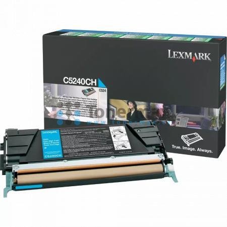 Lexmark C5240CH, return, originální toner pro tiskárny Lexmark C524, C524dn, C524dtn, C524n, C532dn, C532n, C534dn, C534dtn, C534n