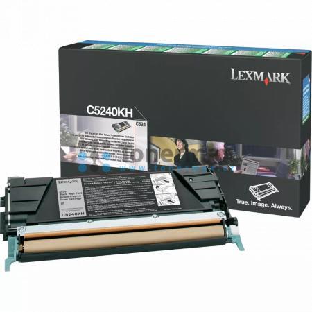 Lexmark C5240KH, return, poškozený obal, originální toner pro tiskárny Lexmark C524, C524dn, C524dtn, C524n, C534dn, C534dtn, C534n
