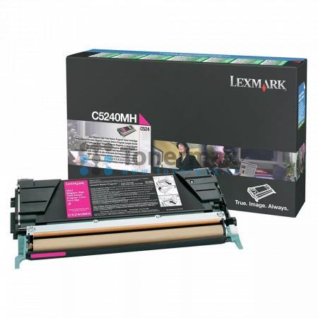 Lexmark C5240MH, return, originální toner pro tiskárny Lexmark C524, C524dn, C524dtn, C524n, C532dn, C532n, C534dn, C534dtn, C534n