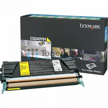 Lexmark C5240YH, return, originální toner pro tiskárny Lexmark C524, C524dn, C524dtn, C524n, C532dn, C532n, C534dn, C534dtn, C534n