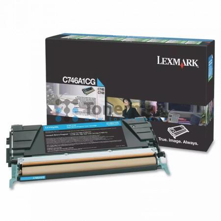 Lexmark C746A1CG, return, originální toner pro tiskárny Lexmark C746dn, C746dtn, C746n, C748de, C748dte, C748e
