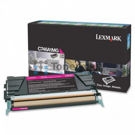 Lexmark C746A1MG, return, originální toner pro tiskárny Lexmark C746dn, C746dtn, C746n, C748de, C748dte, C748e