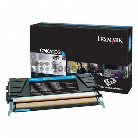 Lexmark C746A2CG, originální toner pro tiskárny Lexmark C746dn, C746dtn, C746n, C748de, C748dte, C748e