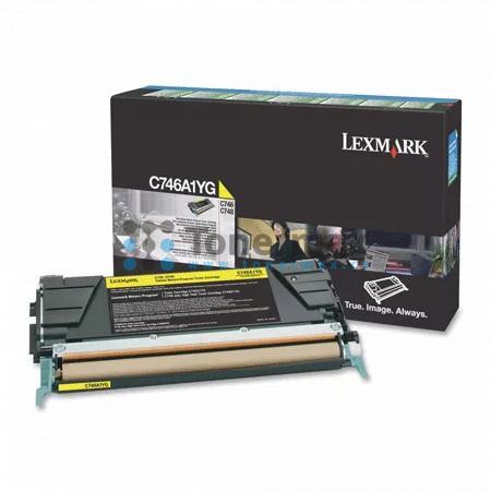 Lexmark C746A2YG, originální toner pro tiskárny Lexmark C746dn, C746dtn, C746n, C748de, C748dte, C748e
