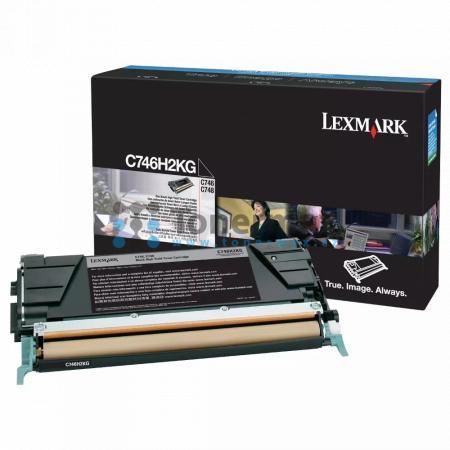 Lexmark C746H2KG, originální toner pro tiskárny Lexmark C746dn, C746dtn, C746n, C748de, C748dte, C748e