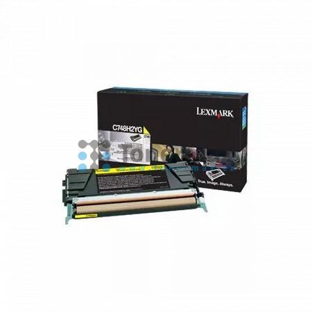Lexmark C748H2YG, originální toner pro tiskárny Lexmark C748de, C748dte, C748e