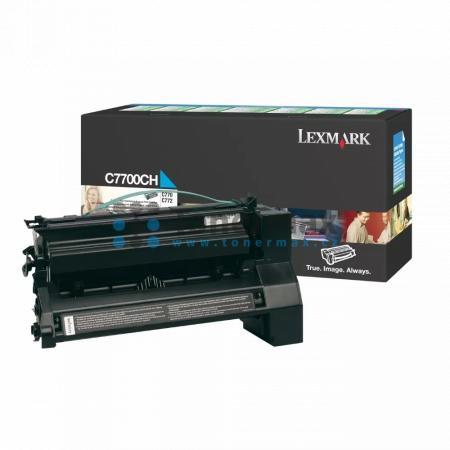 Lexmark C7700CH, return, originální toner pro tiskárny Lexmark C770dn, C770dtn, C770n, C772dn, C772dtn, C772n, X772e