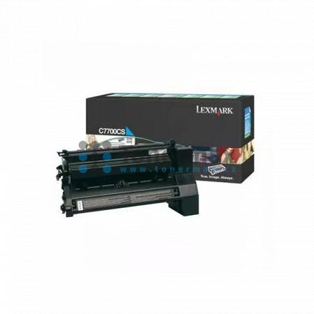 Lexmark C7700CS, return, originální toner pro tiskárny Lexmark C770dn, C770dtn, C770n, C772dn, C772dtn, C772n, X772e