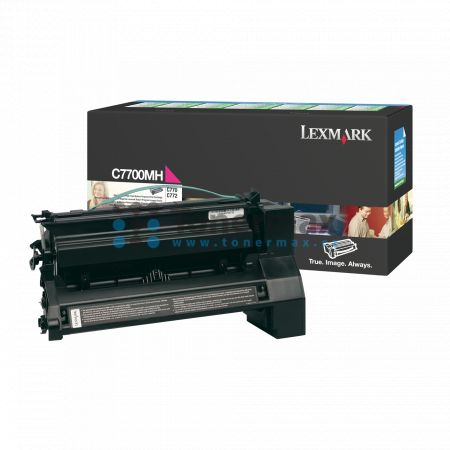 Lexmark C7700MS, return, originální toner pro tiskárny Lexmark C770dn, C770dtn, C770n, C772dn, C772dtn, C772n, X772e