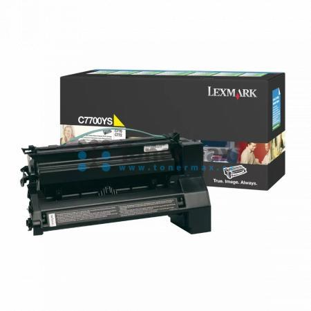 Lexmark C7700YS, return, originální toner pro tiskárny Lexmark C770dn, C770dtn, C770n, C772dn, C772dtn, C772n, X772e
