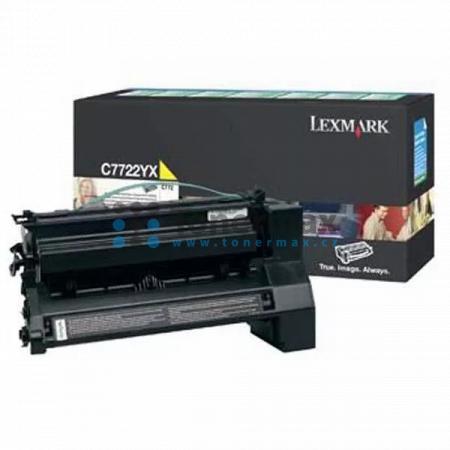 Lexmark C7722YX, originální toner pro tiskárny Lexmark C772dn, C772dtn, C772n, X772e