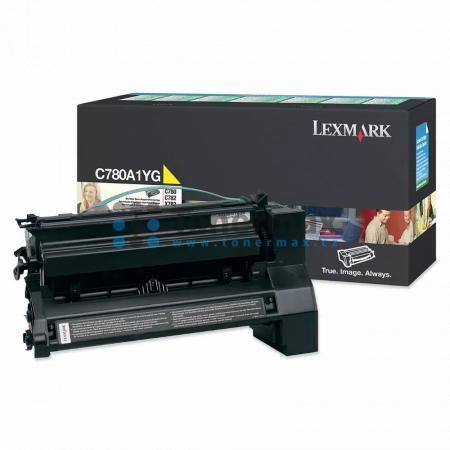 Lexmark C780A1YG, return, originální toner pro tiskárny Lexmark C780dn, C780dtn, C780n, C782dn, C782dtn, C782n, X782e