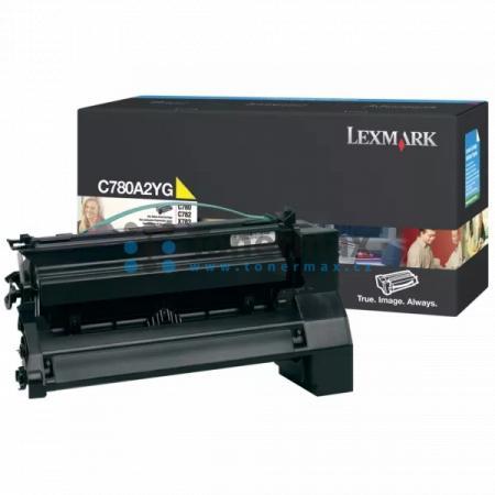 Lexmark C780A2YG, originální toner pro tiskárny Lexmark C780dn, C780dtn, C780n, C782dn, C782dtn, C782n, X782e