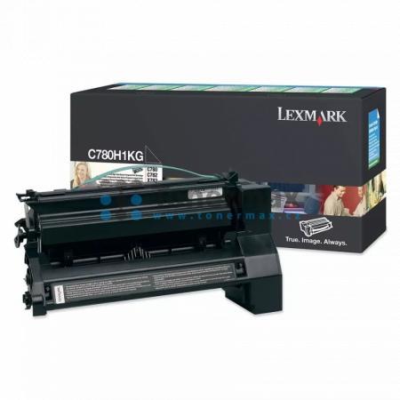 Lexmark C780H1KG, return, originální toner pro tiskárny Lexmark C780dn, C780dtn, C780n, C782dn, C782dtn, C782n, X782e