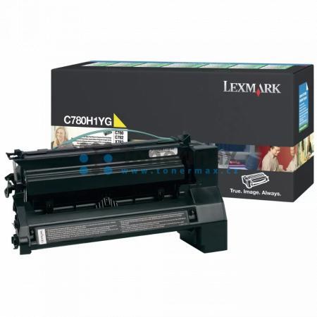 Lexmark C780H1YG, return, originální toner pro tiskárny Lexmark C780dn, C780dtn, C780n, C782dn, C782dtn, C782n, X782e