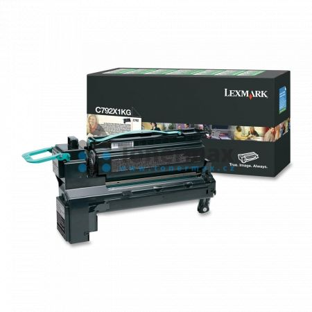 Lexmark C792X1KG, return, originální toner pro tiskárny Lexmark C792de, C792dhe, C792dte, C792e