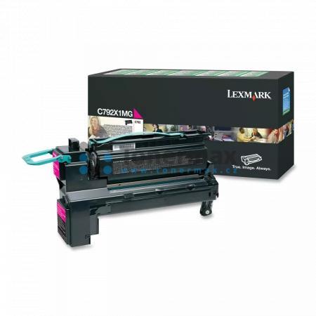 Lexmark C792X1MG, return, originální toner pro tiskárny Lexmark C792de, C792dhe, C792dte, C792e