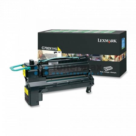 Lexmark C792X1YG, return, originální toner pro tiskárny Lexmark C792de, C792dhe, C792dte, C792e