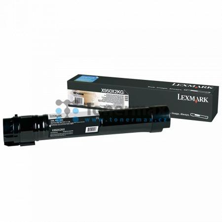 Lexmark X950X2KG, poškozený obal, originální toner pro tiskárny Lexmark X950de, X950dhe, X952de, X954de