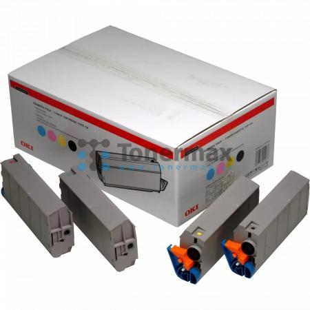 OKI 01101001, sada tonerů, originální toner pro tiskárny OKI C7100, C7100n, C7300, C7300 V2, C7300dn, C7300dxn, C7300n, C7350, C7350dn, C7350dtn, C7350n, C7500, C7500 V2, C7500dxn, C7500hdn