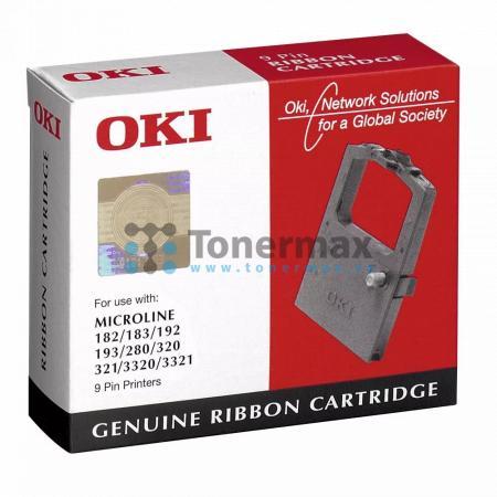 OKI 09002303 barvící páska originální pro tiskárny OKI MICROLINE 182, MICROLINE 183, MICROLINE 192, MICROLINE 193, MICROLINE 280, MICROLINE 320, MICROLINE 321, MICROLINE 3320, MICROLINE 3321