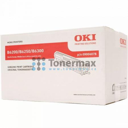 OKI 09004078, poškozený obal, originální toner pro tiskárny OKI B6200, B6200dn, B6200n, B6250, B6250dn, B6250n, B6300, B6300dn, B6300n