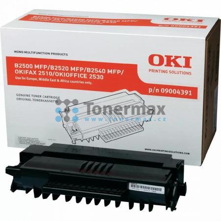 OKI 09004391, poškozený obal, originální toner pro tiskárny OKI B2500, B2500 MFP, B2500MFP, B2520, B2520 MFP, B2520MFP, B2540, B2540MFP, B2540 MFP, OKIFAX 2510, OKIOFFICE 2530