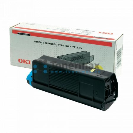 OKI 42127405, TYP C6, originální toner pro tiskárny OKI C5100, C5100n, C5200, C5200n, C5300, C5300dn, C5300n, C5400, C5400dn, C5400dtn, C5400n, C5400tn