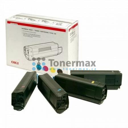 OKI 42403002, sada tonerů, originální toner pro tiskárny OKI C5100, C5100n, C5200, C5200n, C5300, C5300dn, C5300n, C5400, C5400dn, C5400dtn, C5400n, C5400tn