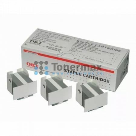 OKI 42937603, sešívací svorky pro tiskárny OKI C910, C910dn, C910n, C9600, C9650, C9650dn, C9650hdn, C9650hdtn, C9650n, C9655, C9655dn, C9655hdn, C9655hdtn, C9655n, C9800, C9800 MFP, C9800MFP, C9800GA, C9800GA MFP, C9850, C9850 MFP, C9850MFP, C9850hdn, C9