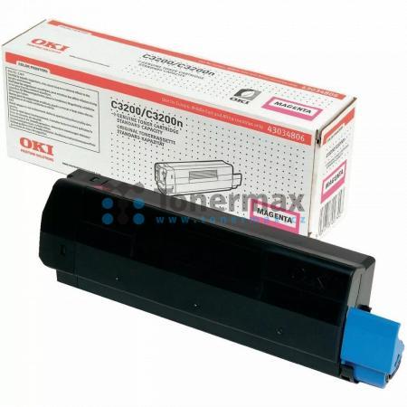 OKI 43034806, originální toner pro tiskárny OKI C3200, C3200n