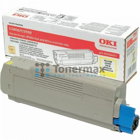 OKI 43324421, originální toner pro tiskárny OKI C5550, C5550 MFP, C5550MFP, C5800, C5800dn, C5800n, C5900, C5900cdtn, C5900dn, C5900dtn, C5900n