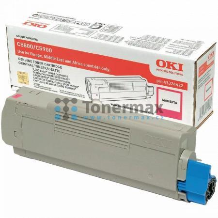 OKI 43324422, originální toner pro tiskárny OKI C5550, C5550 MFP, C5550MFP, C5800, C5800dn, C5800n, C5900, C5900cdtn, C5900dn, C5900dtn, C5900n