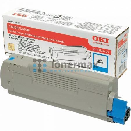 OKI 43324423, originální toner pro tiskárny OKI C5550, C5550 MFP, C5550MFP, C5800, C5800dn, C5800n, C5900, C5900cdtn, C5900dn, C5900dtn, C5900n