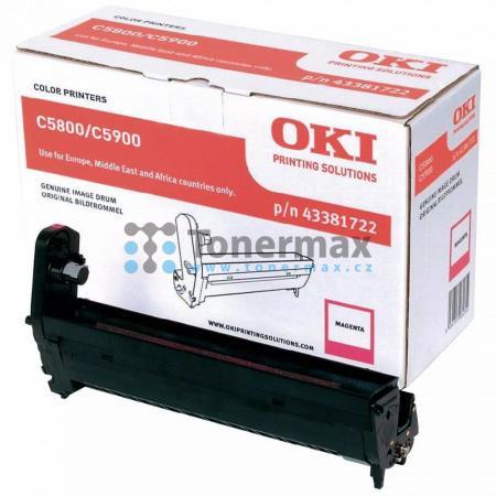 OKI 43381722, obrazový válec originální pro tiskárny OKI C5550, C5550 MFP, C5550MFP, C5800, C5800dn, C5800n, C5900, C5900cdtn, C5900dn, C5900dtn, C5900n