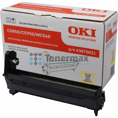 OKI 43870021, obrazový válec originální pro tiskárny OKI C5850, C5850dn, C5850n, C5950, C5950cdtn, C5950dn, C5950dtn, C5950n, MC560, MC560n