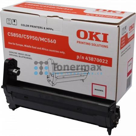 OKI 43870022, obrazový válec originální pro tiskárny OKI C5850, C5850dn, C5850n, C5950, C5950cdtn, C5950dn, C5950dtn, C5950n, MC560, MC560n