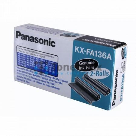 Panasonic KX-FA136A, fólie do faxu, originální pro tiskárny Panasonic KX-F195, KX-F205, KX-F250, KX-F255, KX-F301, KX-F303, KX-F1010, KX-F1015, KX-F1016, KX-F1110, KX-FM131, KX-FM210, KX-FM220, KX-FM260, KX-FM280, KX-FM969, KX-FMC230, KX-FP101, KX-FP106,