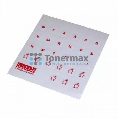 Přelepky Logo na klávesnice, červené, cena za 1 ks, azbuka