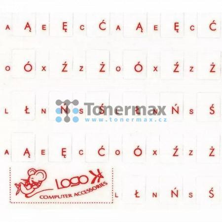 Přelepky Logo na klávesnice, červené, cena za 1ks, polské