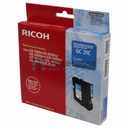 Ricoh GC-21C, GC21C, 405533, originální cartridge pro tiskárny Ricoh Aficio GX 2500, Aficio GX2500, Aficio GX 3000, Aficio GX3000, Aficio GX 3000S, Aficio GX3000S, Aficio GX 3000SF, Aficio GX3000SF, Aficio GX 3050N, Aficio GX3050N, Aficio GX 3050SFN, Afic