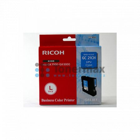 Ricoh GC-21HC, GC21HC, 405537, originální cartridge pro tiskárny Ricoh Aficio GX 5050N, Aficio GX5050N, Aficio GX 7000, Aficio GX7000, kompatibilní také s Gestetner GX 5050N Aficio, GX 7000 Aficio, Nashuatec GX 5050N Aficio, GX 7000 Aficio, Rex Rotary GX