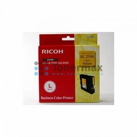 Ricoh GC-21HY, GC21HY, 405539, originální cartridge pro tiskárny Ricoh Aficio GX 5050N, Aficio GX5050N, Aficio GX 7000, Aficio GX7000, kompatibilní také s Gestetner GX 5050N Aficio, GX 7000 Aficio, Nashuatec GX 5050N Aficio, GX 7000 Aficio, Rex Rotary GX