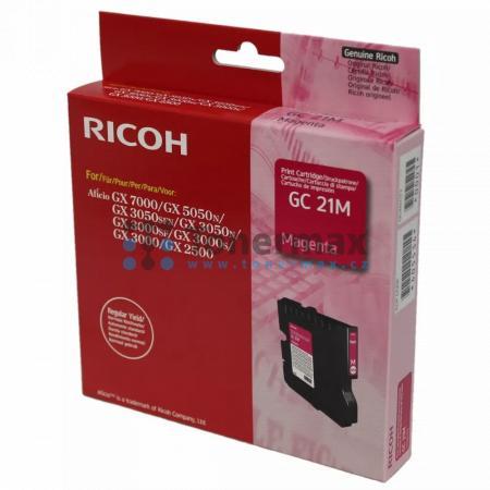 Ricoh GC-21M, GC21M, 405534, originální cartridge pro tiskárny Ricoh Aficio GX 2500, Aficio GX2500, Aficio GX 3000, Aficio GX3000, Aficio GX 3000S, Aficio GX3000S, Aficio GX 3000SF, Aficio GX3000SF, Aficio GX 3050N, Aficio GX3050N, Aficio GX 3050SFN, Afic