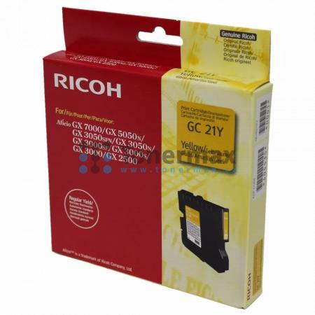 Ricoh GC-21Y, GC21Y, 405535, originální cartridge pro tiskárny Ricoh Aficio GX 2500, Aficio GX2500, Aficio GX 3000, Aficio GX3000, Aficio GX 3000S, Aficio GX3000S, Aficio GX 3000SF, Aficio GX3000SF, Aficio GX 3050N, Aficio GX3050N, Aficio GX 3050SFN, Afic
