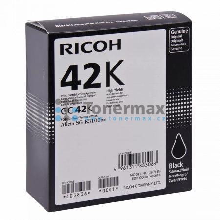 Ricoh GC-42K, GC42K, 405836, originální cartridge pro tiskárny Ricoh Aficio SG K3100DN